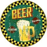 减速火箭的啤酒标志 库存图片