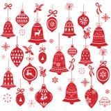 减速火箭的圣诞节铃声设计元素 皇族释放例证