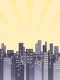 减速火箭的城市背景 免版税库存图片