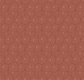 减速火箭的墙纸 与圈子的抽象无缝的几何样式在红色 免版税库存图片