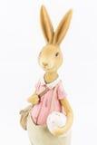 减速火箭的复活节男性兔宝宝 免版税图库摄影