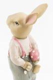 减速火箭的复活节男性兔宝宝 免版税库存图片