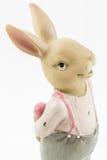 减速火箭的复活节男性兔宝宝 图库摄影