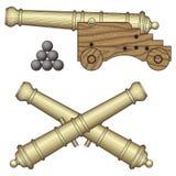 减速火箭的大炮 皇族释放例证
