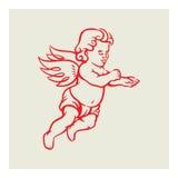 减速火箭的天使传染媒介 免版税库存照片