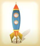 减速火箭的太空飞船着陆 库存照片
