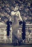 减速火箭的妇女20世纪20年代- 20世纪30年代 免版税库存图片