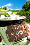 减速火箭的婚礼 免版税库存照片