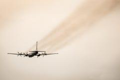减速火箭的客机 图库摄影