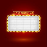 减速火箭的戏院标志 免版税库存照片