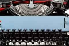 减速火箭的打字机关闭与编号关键字 库存图片