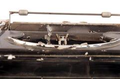 减速火箭的打字机特写镜头 库存照片