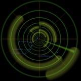 减速火箭的扫描程序屏幕技术 图库摄影