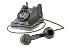 减速火箭的拨号转台式电话 免版税图库摄影