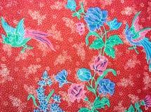 减速火箭的挂毯织品样式特写镜头与古典图象的 免版税库存图片