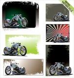 减速火箭的摩托车 免版税库存图片