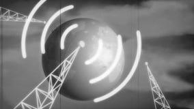 减速火箭的新闻介绍B&W 库存例证