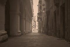 减速火箭的时期在瓦莱塔,马耳他 免版税图库摄影