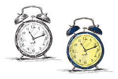 减速火箭的时钟向量例证 免版税图库摄影