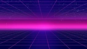减速火箭的未来派背景20世纪80年代样式3d例证 向量例证