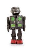 减速火箭的机器人罐子玩具 免版税库存图片