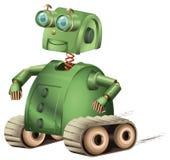 减速火箭的机器人 免版税库存图片