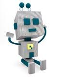 减速火箭的机器人 免版税库存照片