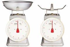 减速火箭的样式厨房标度 免版税库存图片