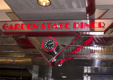 减速火箭的样式吃饭的客人在纽瓦克新泽西 免版税图库摄影