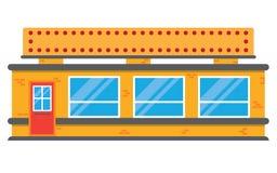 减速火箭的样式地方杂货市场商店 免版税库存图片