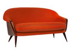 减速火箭的样式红色沙发60样式古董 免版税库存图片
