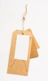 减速火箭的样式纸板葡萄酒销售标签 图库摄影
