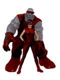 减速火箭的样式超级英雄夫妇 免版税库存照片