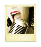 减速火箭的歌唱家 免版税库存照片