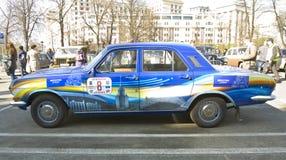 减速火箭的汽车伏尔加河 免版税图库摄影