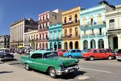 减速火箭的汽车在哈瓦那,古巴 库存图片