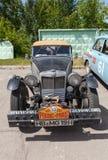 减速火箭的汽车MG TC 1948年 免版税库存图片