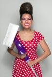 减速火箭的清洁女仆 免版税图库摄影