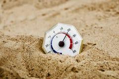 减速火箭的温度计 图库摄影