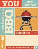 减速火箭的烤肉邀请 库存图片