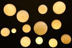 减速火箭的照明设备灯内部装饰在曼谷市,泰国 免版税图库摄影