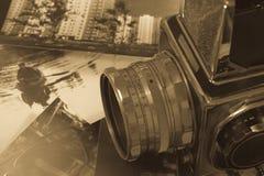 减速火箭的照相机媒介格式 免版税库存照片