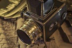 减速火箭的照相机媒介格式 图库摄影