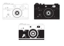 减速火箭的照相机用不同的设计选择 库存照片
