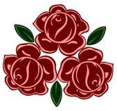 减速火箭的玫瑰的查出的例证 免版税库存照片