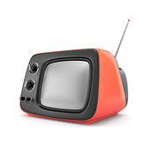减速火箭的电视 库存照片