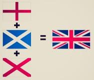 减速火箭的神色英国国旗 库存照片