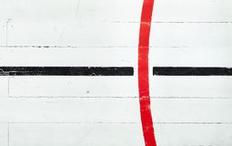 减速火箭的篮球场地板 图库摄影