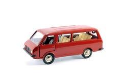 减速火箭的红色微型公共汽车的减少的拷贝 免版税库存图片