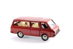 减速火箭的红色微型公共汽车的减少的拷贝 免版税图库摄影